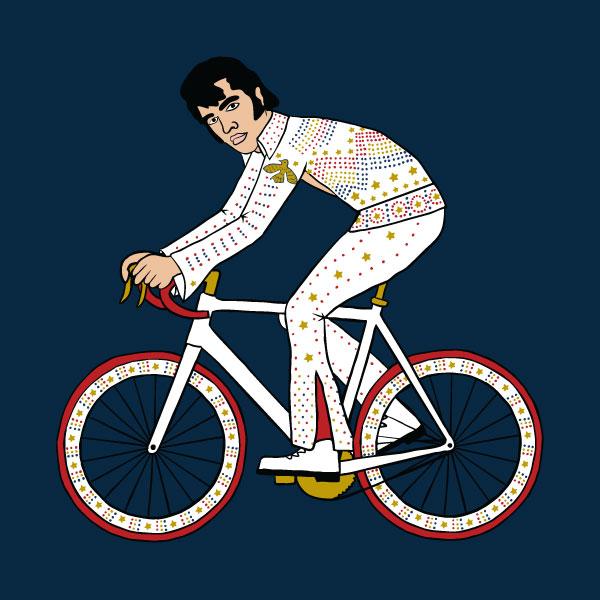 elvis on bike
